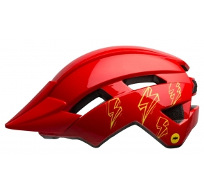 Kask dziecięcy BELL SIDETRACK II bolts gloss red