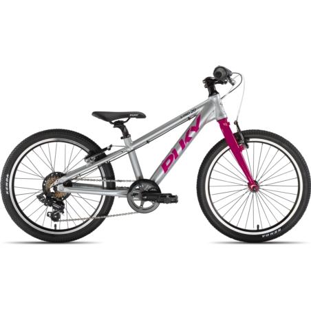 Rower dziecięcy PUKY S-Pro 20-7 - srebrno/fioletow