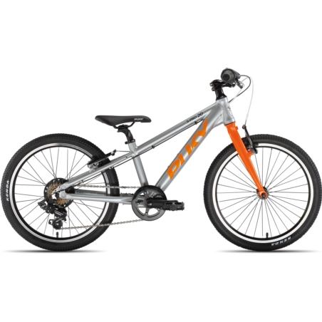 Rower dziecięcy PUKY S-Pro 20-7 - srebrno/pomarańc