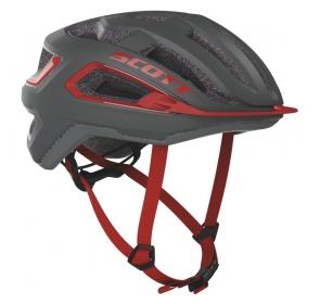 Kask rowerowy SCOTT Arx - szaro/czerwony