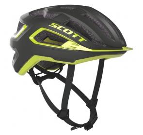 Kask rowerowy SCOTT Arx Plus - grey/radium yellow