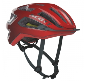 Kask rowerowy SCOTT Arx Plus - fiery red/grey