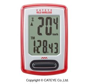 Licznik rowerowy CATEYE Wireless CC-VT230W, czerwo