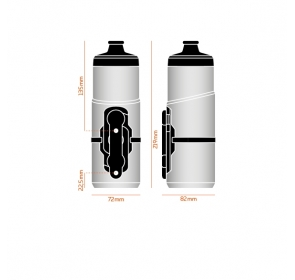Bidon FIDLOCK Twist 600 + baza Bike - biały
