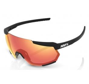 Okulary 100% RACETRAP Soft Tact Black - HiPER Red