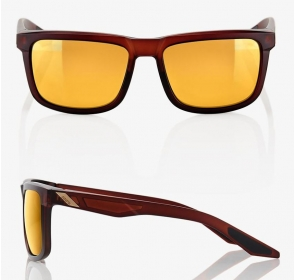 Okulary 100% BLAKE Soft Tact Rootbeer - Flash Gold