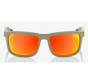 Okulary 100% BLAKE Soft Tact Quicksand - HiPER Red