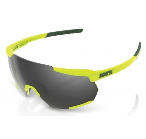 Okulary 100% RACETRAP Soft Tact Banana - Black Mir