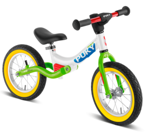Rowerek biegowy PUKY LR Ride Splash - white/kiwi - 1