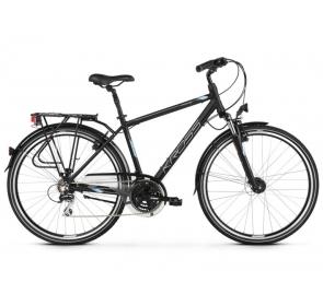 Rower Trekkingowy KROSS Trans 3.0 - czarny/stalowy