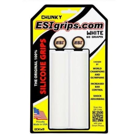 Chwyty Rowerowe ESI Chunky - białe