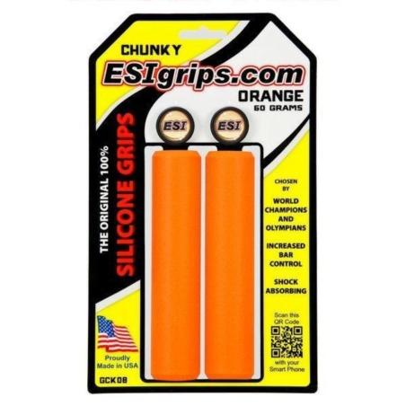 Chwyty Rowerowe ESI Chunky - pomarańczowe