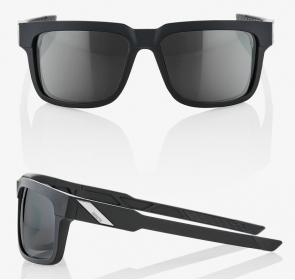 Okulary 100% TYPE-S Soft Tact Black - Smoke Lens
