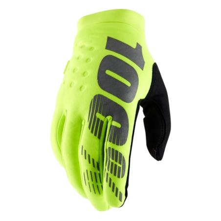 Rękawiczki 100% BRISKER Glove fluo yellow