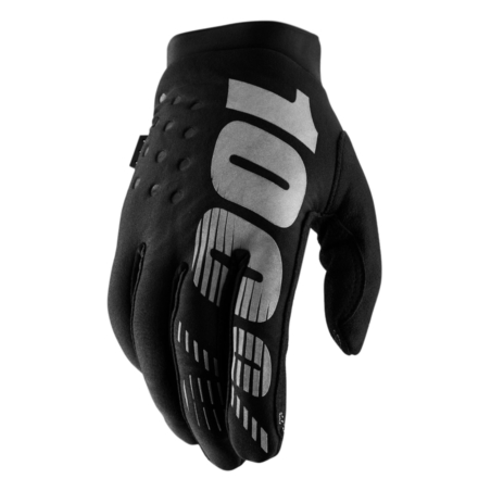 Rękawiczki 100% BRISKER Glove black grey