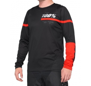 Koszulka męska 100% R-CORE Jersey długi rękaw red