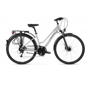 Rower Trekkingowy Kross Trans 5.0 Damski - biały - 2021