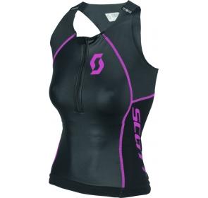 Damska koszulka TRI SCOTT Plasma - black/pink