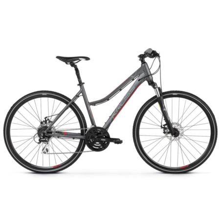 Rower crossowy damski KROSS Evado 4.0 grf/róż-2021