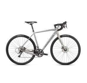 Rower Gravelowy Kross Esker 1.0 - szary/biały-2021