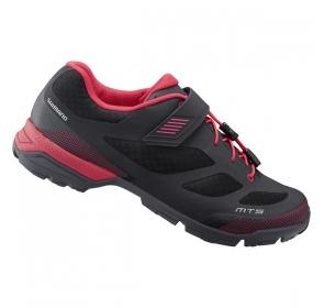 Buty damskie SHIMANO SH-MT501W - czarno/czerwone