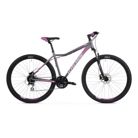 Rower górski KROSS LEA 5.0 D - gra/róz/fiol - 2021