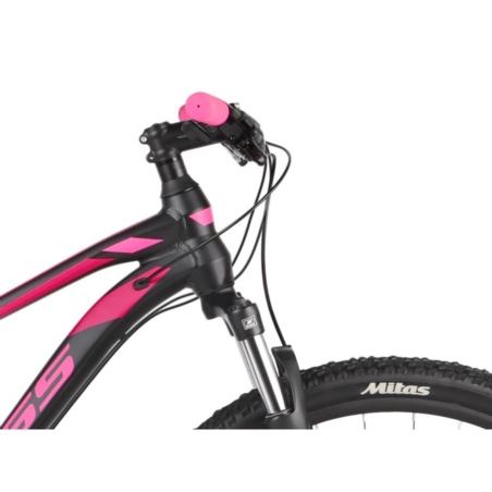 Rower górski KROSSS LEA 6.0 D 27 - czarny/róż-2021