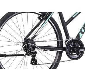 Rower Crossowy UNIBIKE PRIME LDS-czarny/tur-2021