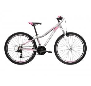 Rower górski damski KROSS Lea 2.0  26 - srebrny/różowy - 2021 - 2