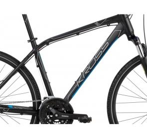 Rower crossowy KROSS Evado 6.0 M - czarno/niebieski - 2021 - 1