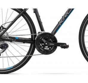 Rower crossowy KROSS Evado 6.0 M - czarno/niebieski - 2021 - 2