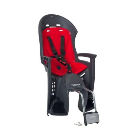 Fotelik na bagażnik  Hamax Smiley szary/czerwony