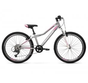 Rower dziecięcy KROSS LEA JR 2.0D-srebrny/róż 2021