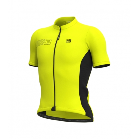 Koszulka  Alé Cycling Solid Color Block-floyellow