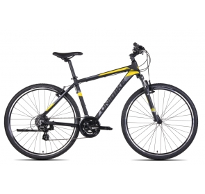 Rower Crossowy UNIBIKE PRIME GTS - czarno/żółty
