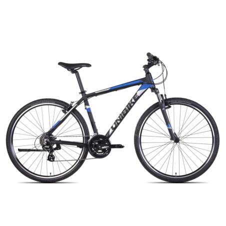 Rower Crossowy UNIBIKE PRIME GTS -czarno/niebieski
