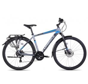 Rower Crossowy m UNIBIKE FLASH EQ-grafi/niebieski