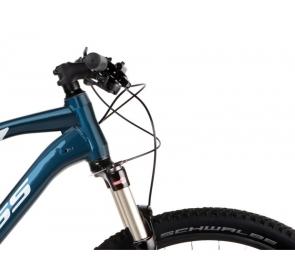 Rower górski KROSS LEVEL 5.0M - niebieski/srebrny