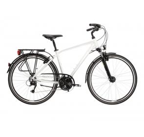 Rower Trekkingowy męski Kross Trans 4.0 - perłowy / biały połysk - 2021