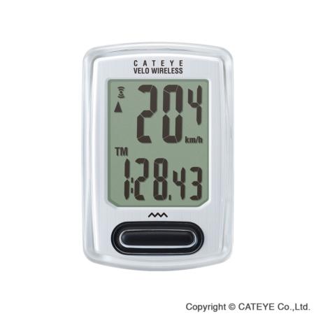 Licznik rowerowy CATEYE Wireless CC-VT230W, biały
