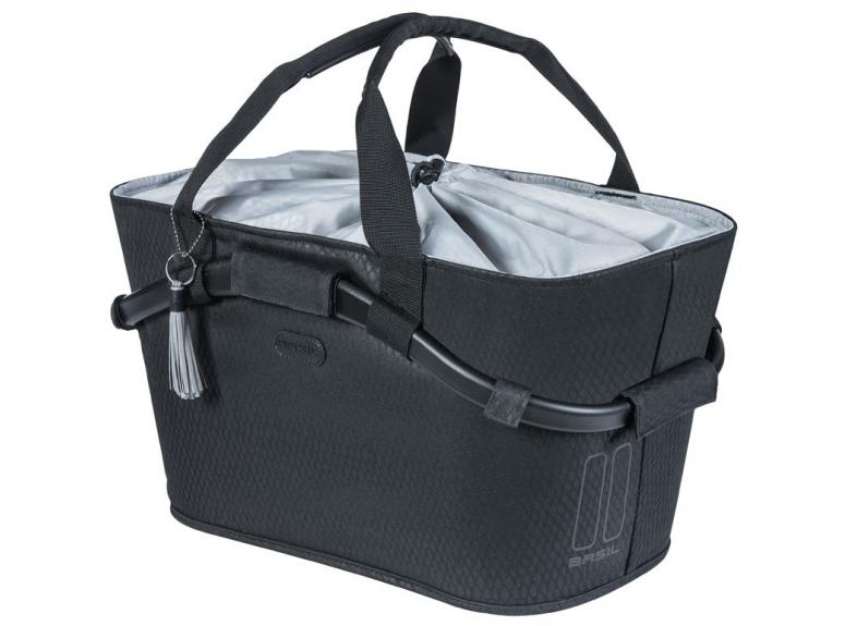 Kosz na tylny bagażnik BASIL NOIR CARRY czarny