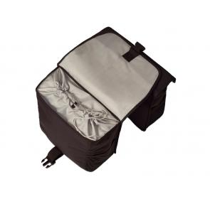 Sakwa miejska BASIL GO DOUBLE BAG 32L czarna