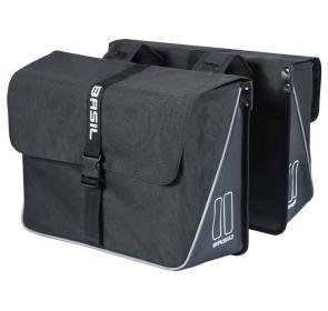 Sakwa Miejska BASIL FORTE DOUBLE BAG 35L czarna