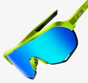Okulary 100% S2 - Matte Fluorescent Yellow