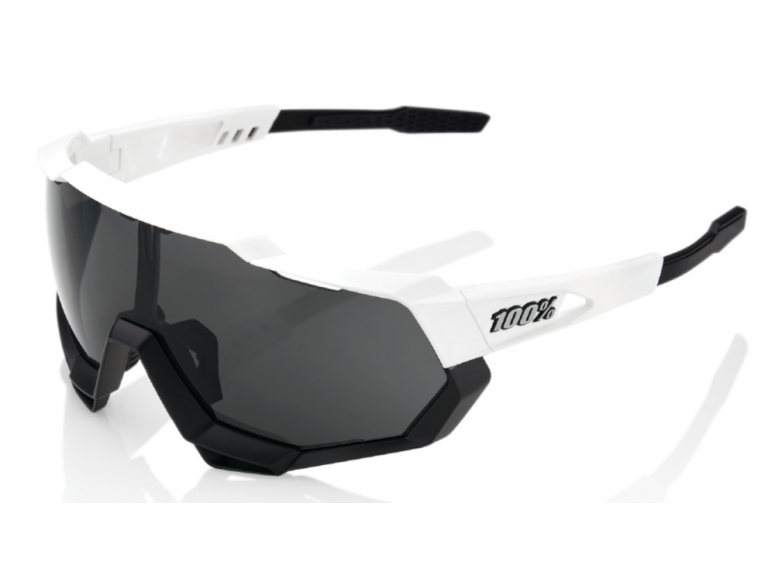 Okulary 100% SPEEDTRAP - Matte White/Black
