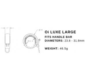 Dzwonek Rowerowy KNOG Oi Luxe duży - srebrny