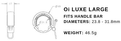 Dzwonek Rowerowy KNOG Oi Luxe mały - srebrny