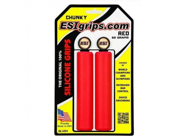 Chwyty Rowerowe ESI Chunky - czerwone