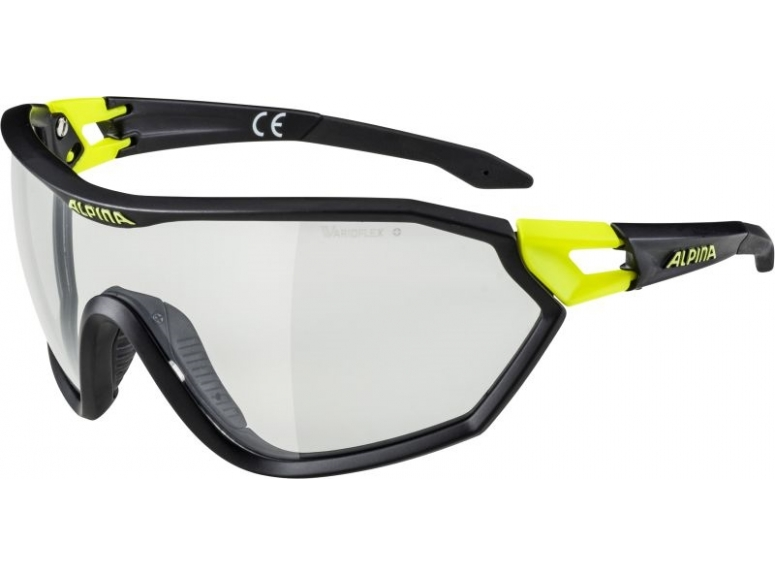 ALPINA OKULARY S-WAY VL+ - black matt/yellow