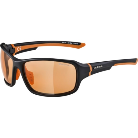 ALPINA OKULARY LYRON VL - black matt/orange
